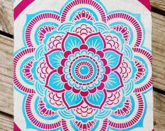 Small Mandala Tapestry 2 Color Screen Print