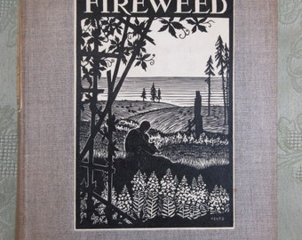 Vintage Michigan Novel ~ Fireweed by Mildred Walker ~ 1934 First Edition Book