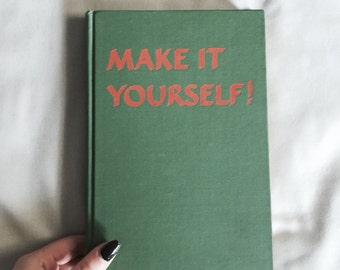 Vintage DIY Book // Kids Crafts // Craft Books // Vintage Craft Books // Make It Yourself Book // Vintage Books // 1950s