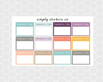 Thankful For Planner Stickers