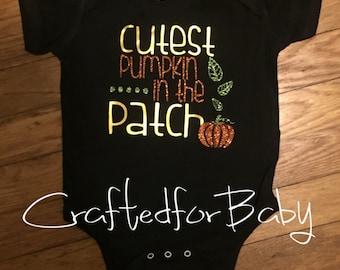 Cutest Pumpkin in the Patch Bodysuit Fall Onesie