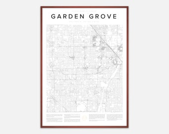 Garden Grove Map Print