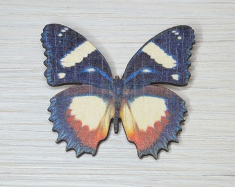 Butterfly Brooch, Laser cut jewellery, Wooden Brooch, Butterfly Accessory, laser cut,  gifts for her, Multi colour