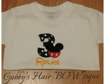Mickey Mouse Embroidered Shirt