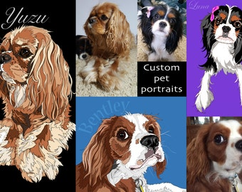 CUSTOM Portrait Illustration of your pets