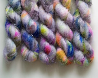 Underwater Hand Dyed Yarn Kid Mohair Silk  50g