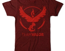 "Pokemon GO Ladies ""Team Valor"" T-shirt"