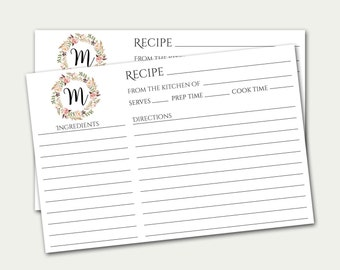 Recipe card | Etsy