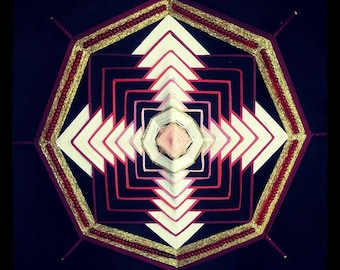 """Mandala Ojo de Dios """"Celtic Cross"""""""