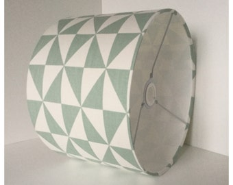 Grey Graphic  Lampshade,  Lightshade, Modern  Lightshade , Contemporary Lampshade
