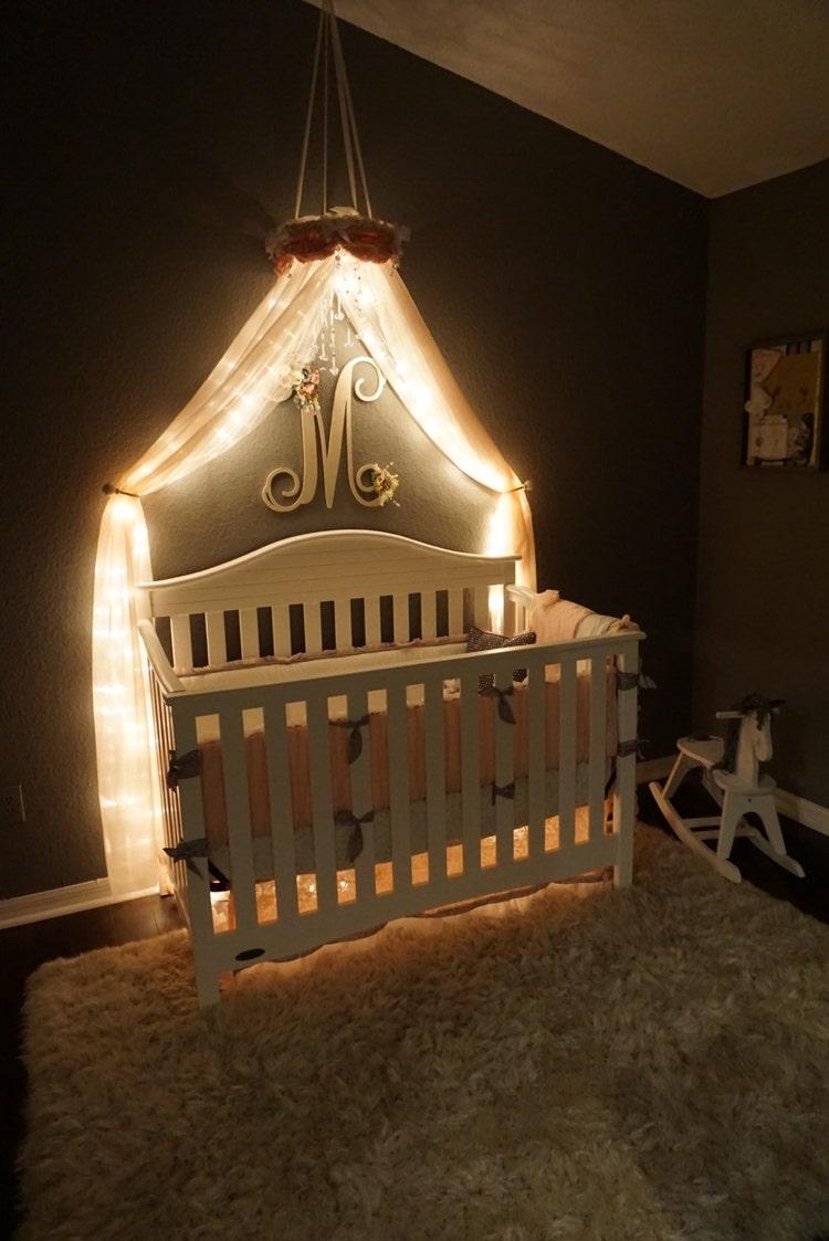 Baby Canopy For Bedroom: Nursery Crib Canopy-Baby Canopy-Crib Canopy-Bed By