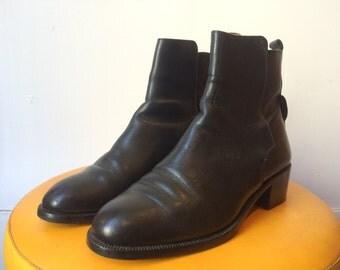 Black Italian Leather Boots