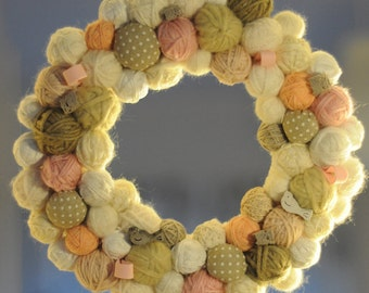 Baby wreath-out door Wreath Garland Bow birth-birth-