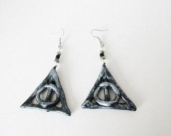 Geek earrings Harry Potter Deathly hallows