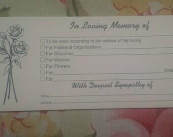 Vintage Funeral/Sympathy Envelope