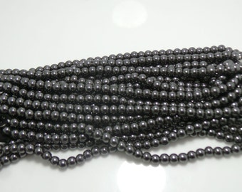 """ON SALE Black Hessonite  Beads ~ 6x6 mm ~ Full 1 """" Strand Balls Beads ~ Amazing Color . 165 Carat.Pdct 1228"""
