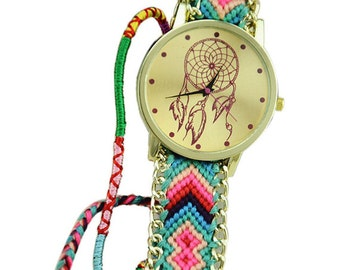 Braided Friendship Bracelet Watch: Dreamcatcher