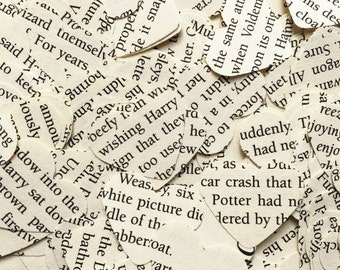 500 Harry Potter confetti hearts , party , wedding , card making , smashbooks, table top confetti