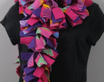 Adorable Fleece Scarves, FOUR Layers of Fashionable Warmth! (Patterned Colors)