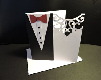 Really cute handmade bride & Groom wedding cardcard