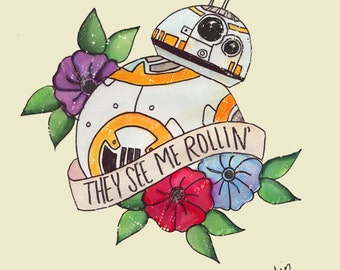 Star War's inspired BB-8 print