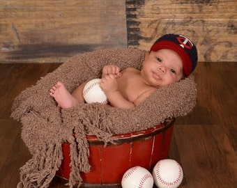 Baby Minnesota Twins inspired Baseball Cap, Hat, Made to Order