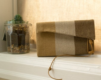 Custom hand-stitched clutch