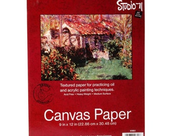 Studio 71 Canvas Paper - 9x12 - Canvas Art Paper - Canvas Paper Pad - Art Paper Pad - Canvas Paper Art Pad - Heavyweight Paper - Paint Paper