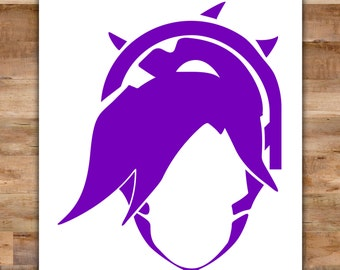 Mercy Overwatch Decal - Overwatch Sticker Overwatch Mercy Guardian Angel Decal Video Game Decals Geek Decals Video Game Decor