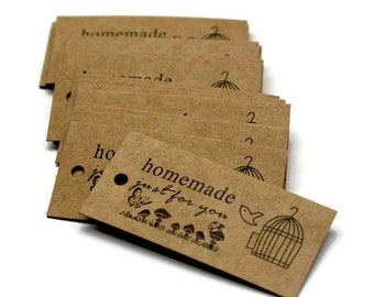 Homemade Just For You Tag. Kraft Tag. Hang Tag. Gift Tag. Bake Tag. Party Favor Tag. Wedding Favor Tag. 30 Pieces.