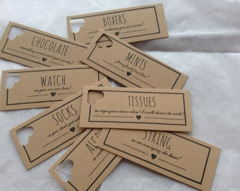 Groom's Survival Gift Kit Groom's Box Tags Labels