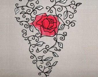 Rose heart romantic