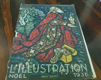 Vintage L'Illustration Noel 1936 Art Deco France Magazine Newspaper Vintage Ads