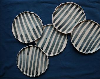 "Small plate dessert ""stripe"""