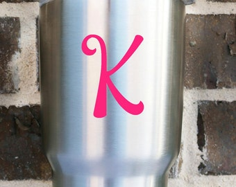 Single letter decal | Intial Decal |  Vinyl decal | Car decal | YETI Decal | Monogram decal | Letter |  Vinyl monogram | Monogram sticker