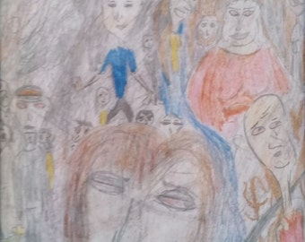 """Drawing. """"Crazy Faces"""""""