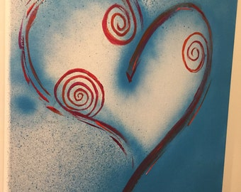 Heart and swirl