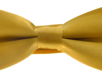 Gold Babies Toddlers Pre-Tied Bow Tie