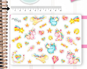 Unicorn Stickers Unicorn Planner Stickers Planner Stickers Erin Condren Decorative Stickers Live Planner NR744