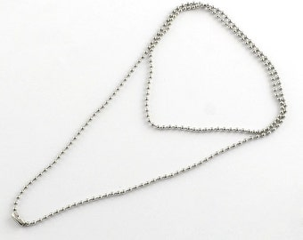 "10 304 Stainless Steel Ball Chain Necklaces 21.6"" (B17)"