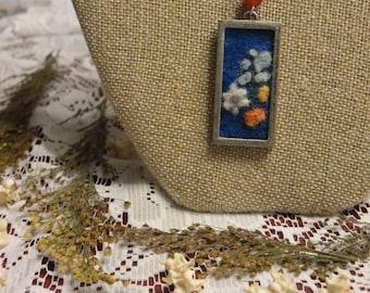 Felted Floral Necklace