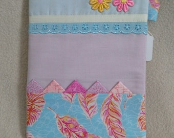 Note book with fabric cover
