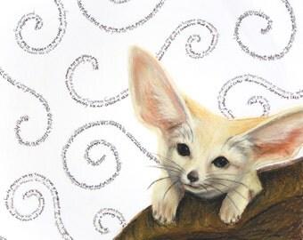 "Fennec Fox ""Adorableness"" Giclee Print"