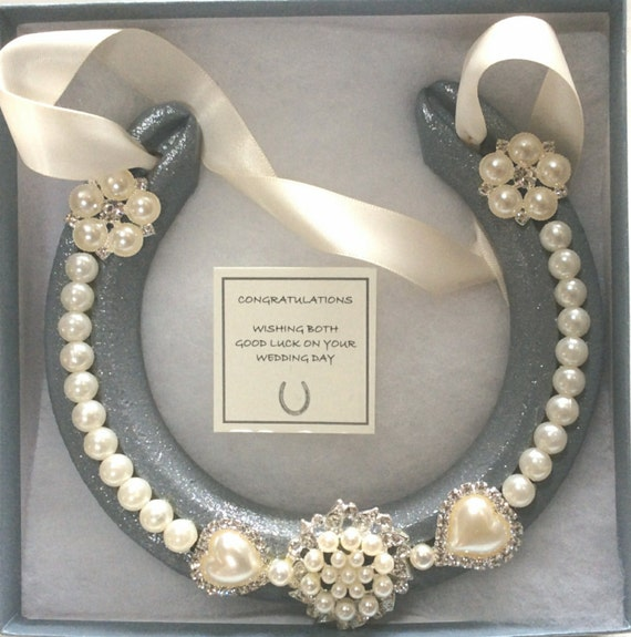 Lucky Wedding Gifts: Lucky Horseshoe Bridal Wedding Gift Real By