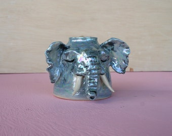 Pearl elephant pipe | 50% of proceeds to the Wildlife Conservation Society