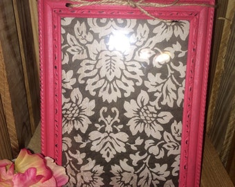 Coral hand painted picture frame
