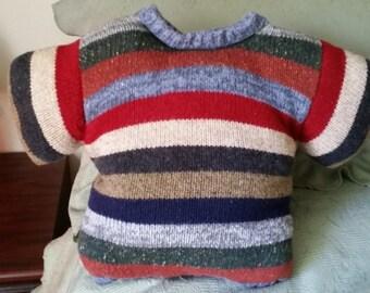 Handmade Sweater Pillow - Unique
