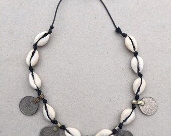 shell & rupee coin necklace