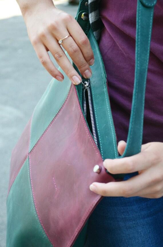 REAL 5% OFF Leather Crossbody Bag Zipper + Leather Bag + Leather Purse + Leather Handbag + Laptop bag + Leather Camera Bag + Handmade Leathe