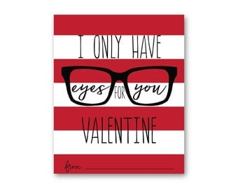 Eyes for You Valentine Red 4x6